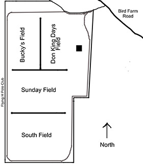 map of the big horn polo club fields
